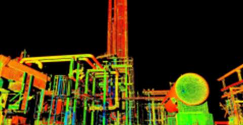 Hue-saturated point cloud of a 200 MMSCFD cryo plant